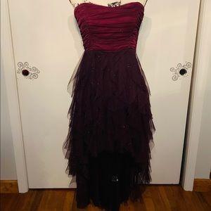 Beautiful Semi-Sparkly Purple High Low Dress